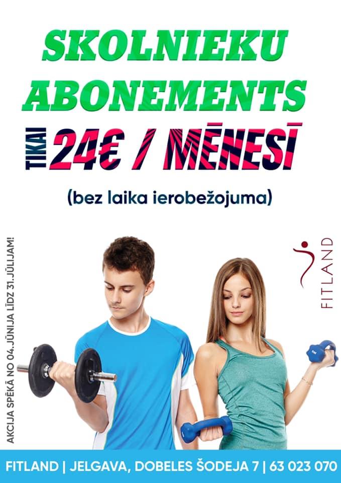 Skolnieku abonements tikai 24 EUR mēnesī!