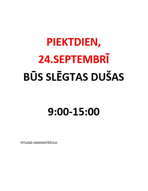 24.09 SLĒGTAS DUŠAS